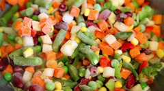 frozen vegetable mix - stock footage