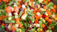 Stock Video Footage of frozen vegetable mix