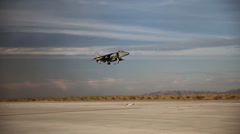 First Aircraft Landing on New Auxiliary Field in Yuma Stock Footage