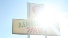 Old Vintage Motel Sign Stock Footage