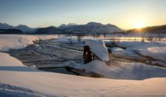 nalychevo nature park at sunrise. kamchatka, far east, russia - stock photo