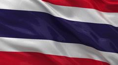 Flag of Thailand - seamless loop Stock Footage