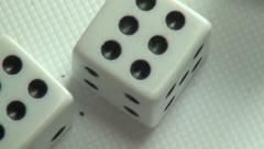 Dice, Die, Gambling, Luck, Games of Chance Stock Footage