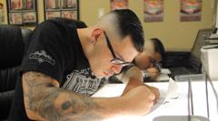 Tattoo shop Stock Footage