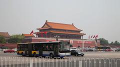 Traffic on Changan Avenue, Beijing, china. Stock Footage