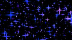 Shining colorful Stars Background - Leuchtende bunte Sterne Hintergrund HD Stock Footage