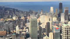 Chicago downtown from Sears Tower Stock Footage