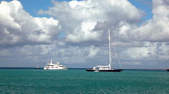 Caribbean vaction on the yacht Stock Footage