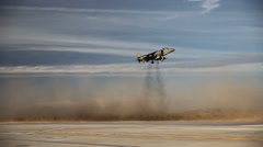 First Aircraft Landing on New Auxiliary Field in Yuma - stock footage
