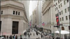 Wall Street wide tilt down 4k NYSE - stock footage