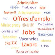 Tag cloud or speech bubble: Vacancies. - stock illustration