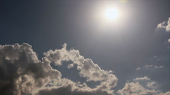 Sunbeams on the clouds Stock Footage