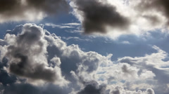 Clouds water steam Stock Footage