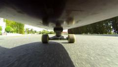 POV Skateboard HD Stock Footage