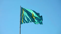 National flag of Kazakhstan Republic Stock Footage