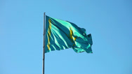 Stock Video Footage of National flag of Kazakhstan Republic