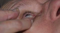Eye drops Stock Footage