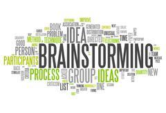 "Stock Illustration of word cloud ""brainstorming"""