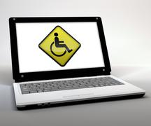 "mobile thin client ""computer accessibility"" - stock illustration"