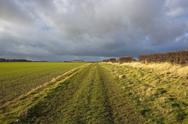 Stock Photo of stormy skies on the minster way