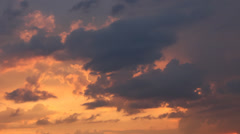 Cloudy twilight Stock Footage
