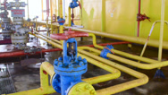 Stock Video Footage of Offshore gas production platform facilities