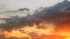 Colours clouds on twilight sky Stock Footage