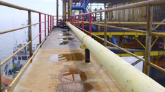 Fixed gas production offshore platform Stock Footage
