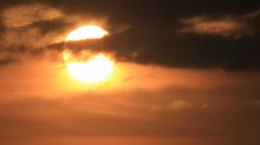Sun in stratus nebulous Stock Footage