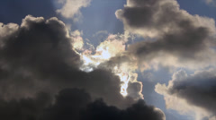 Dark clouds filled sky Stock Footage