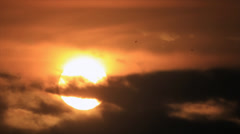 Sunrise from cirrostratus Stock Footage