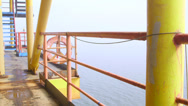 Stock Video Footage of Offshore gas production platform equipment