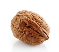walnut macro - stock photo