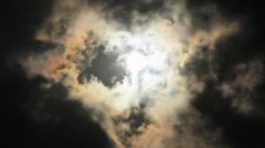 Sun rays to cloud cul-de-sac Stock Footage