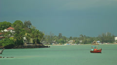 Asian boat - stock footage