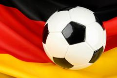 Germany in anticipation on football Stock Photos
