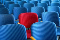 red seat standing out - stock photo