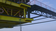 Fixed gas production offshore platform - stock footage