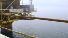 Offshore gas production platform in the East-Kazantip field Stock Footage