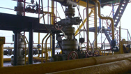 Stock Video Footage of Offshore gas production platform components