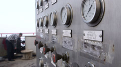 Offshore gas production platform equipment Stock Footage