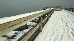 Jericho Pier, English Bay Winter, Vancouver, Canada Stock Footage
