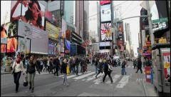New York City Time Square street traffic 4k ultra hd cinema - stock footage