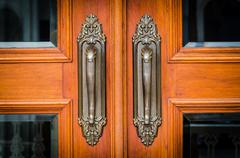 vintage doorknob - stock photo