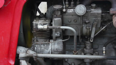 Diesel truck engine Stock Footage