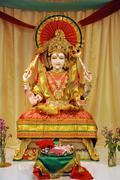 Goddess of Lakshmi statue in Temple - stock photo