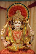 Goddess of Lakshmi statue in Temple - stock photo