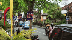 BALI, INDONESIA - DECEMBER 21, 2010: City life and traffic Stock Footage