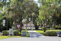 huber park and sign - stock photo