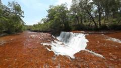 Top of waterfall in Australia Stock Footage